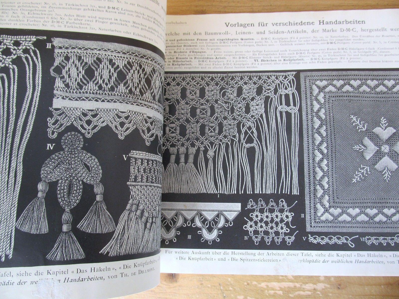 SAMMLUNG VERSCHIEDENER HANDARBEITEN 1910 Dillmont DMC Baumwoll Leinen Seide | eBay