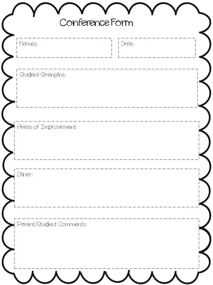 stay organized during parent teacher conferences with this simple form  free