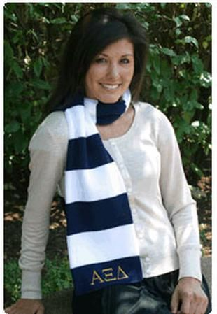 Brr...def. need this Alpha Xi Delta scarf for those cold days!