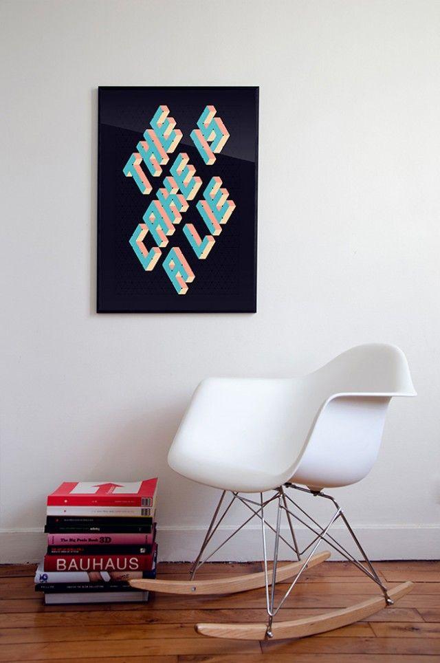 Affiche personnalisable - Fabrique Générale – 6080 triangles de papier en affiche – Fubiz™