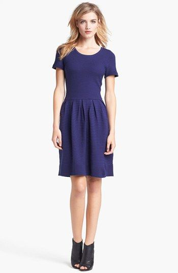 Taylor Dresses Fit & Flare Sweater Dress