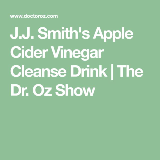 J.J. Smith's Apple Cider Vinegar Cleanse Drink