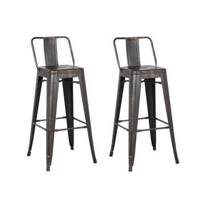 Trent Austin Design Judith 30 Bar Stool Upholstery Sand Matte
