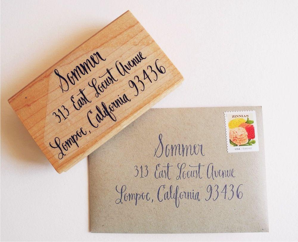 Image Of Extra Large Custom Calligraphy Return Address