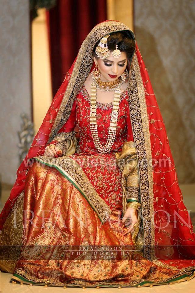 e7ed135aad 40 Best Designs Pakistani Latest Bridal Lehenga Collection 2019-20 ...