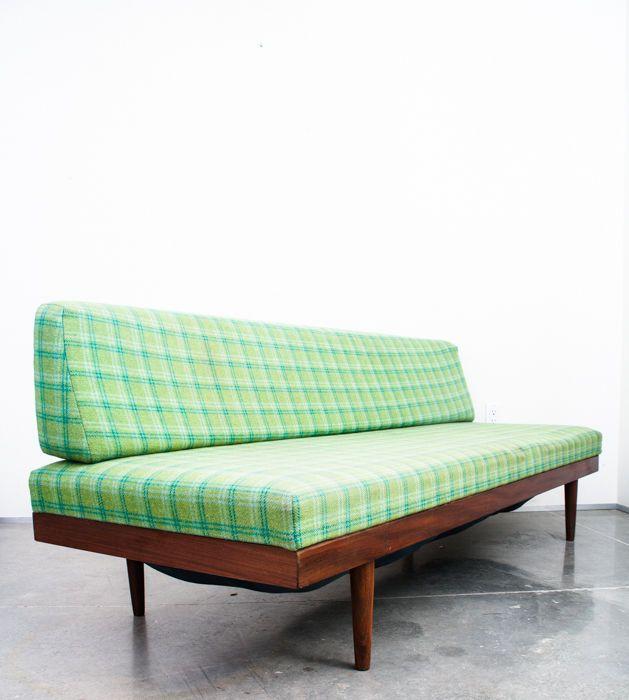 Mid Century Danish Modern Daybed Couch Sofa Vintage Storage Teak Green Greenbelt Daybed With Storage Mid Century