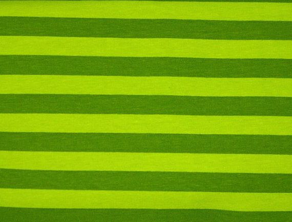 Knit Green on Green 1/2 inch Stripes Fabric by EliteCraftSupplies