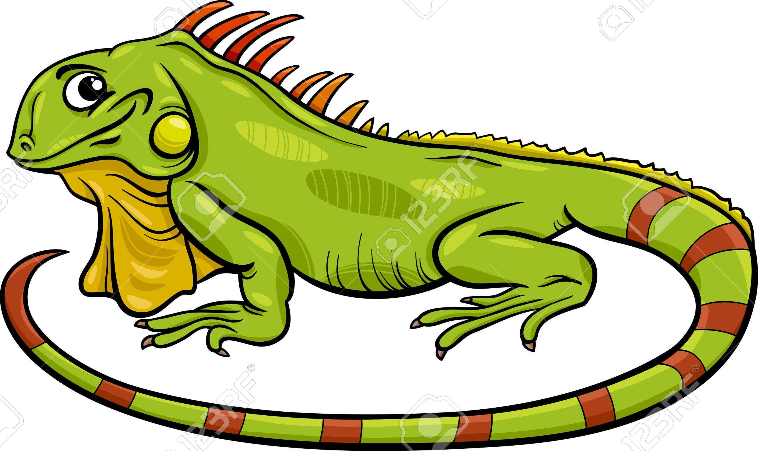 Ilustracion De Dibujos Animados Divertido Del Personaje De Iguana Lagarto Reptil Animal Iguana Dibujo Dibujos Animados Divertidos Ilustraciones De Dibujos Animados
