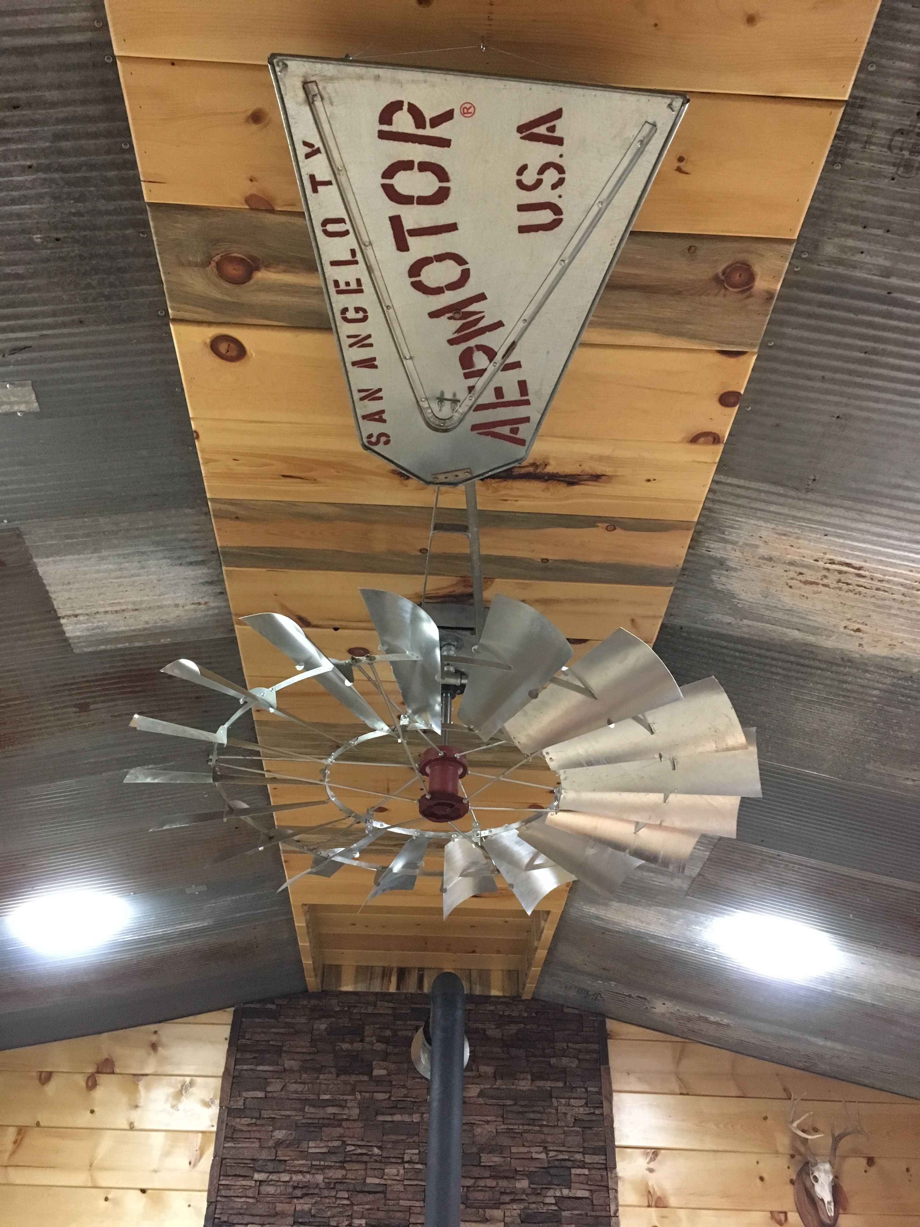 6 New Aermotor Windmill Ceiling Fan With Vane In A Beautiful