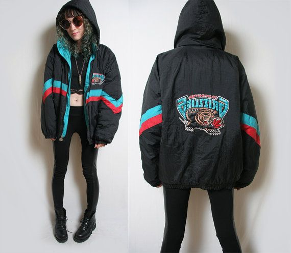 90s Vintage Grizzlies Official Nba First Pick Sports Jacket Etsy Sporty Jacket Jackets Winter Jackets