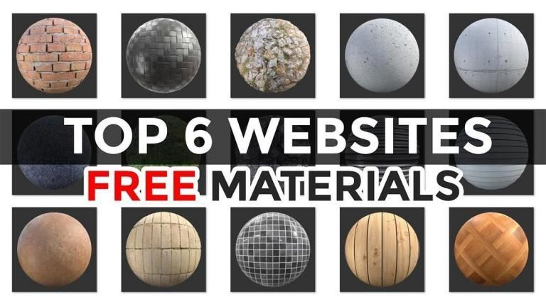 6 Sitios para descargar texturas y materiales gratis