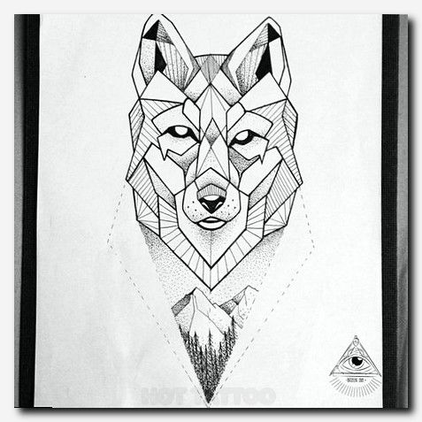 Qsods | Wolf Tattoo | Tattoos, Geometric wolf tattoo ...