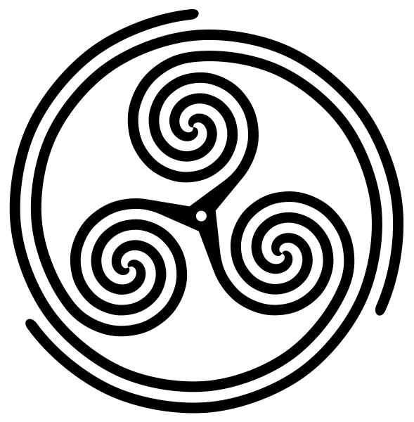 Triskelionspiral Threespoked Inspiral Native Pinterest Symbols
