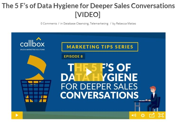 The 5 F S Of Data Hygiene For Deeper Sales Conversations Marketing Goals Conversation B2b Email Marketing