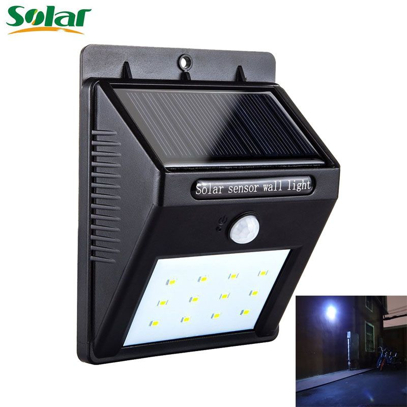 12 Led Solar Light Motion Sensor Waterproof Wireless Solar Power Lamp Outdoor Garden Wall Yard Deck Bright Security N Solar Lights Outdoor Lighting Solar Power