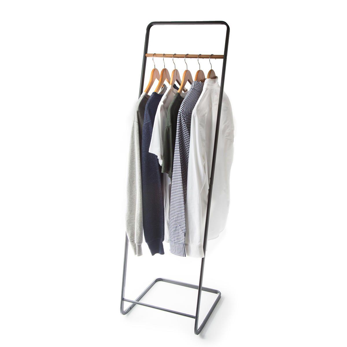 Black Steel & Wood Coat Hanger (With images) Wood coat