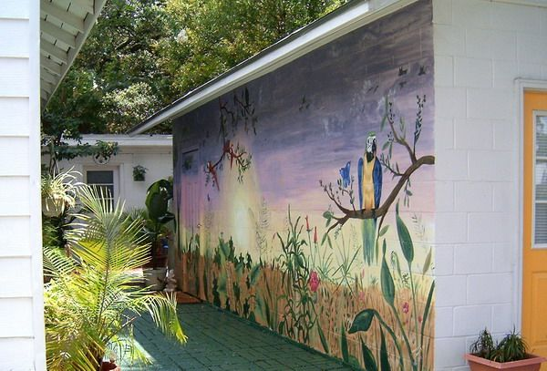 High Quality Painting Outdoor Birds Wall Murals Pictures Gallery