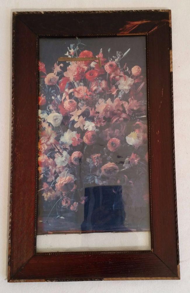 Bilderrahmen braun alt shabby retro vintage 51 x 31,3 cm Verkaufe ...