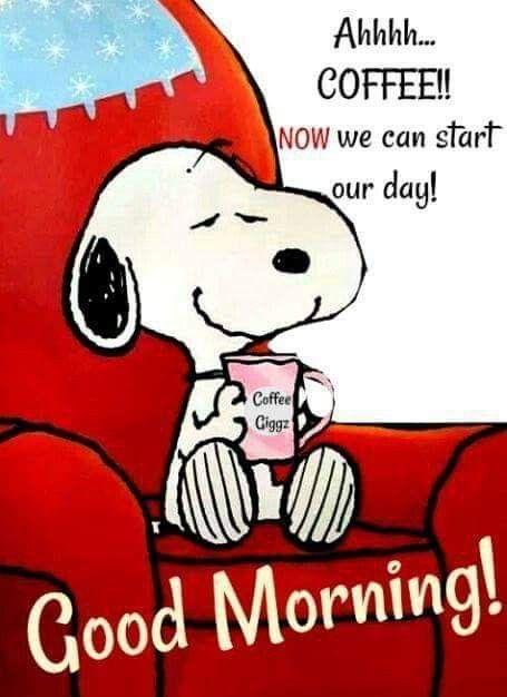 Snoopy guten morgen gif