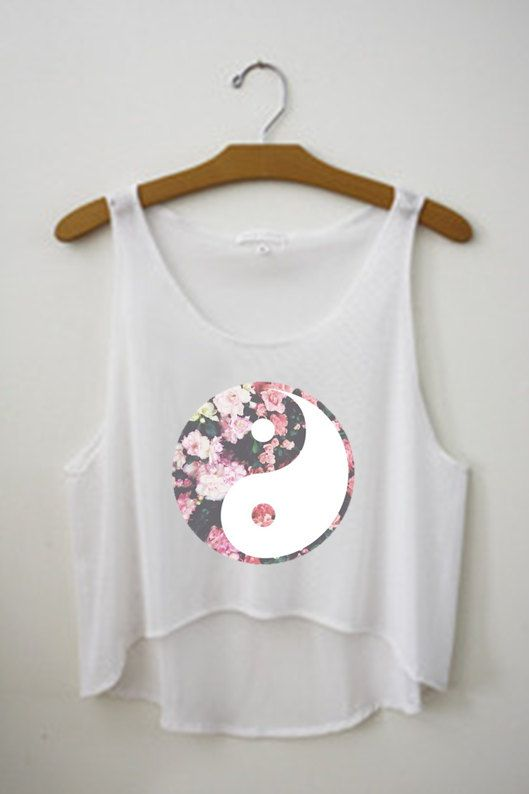 Ying Yang Crop Top By Topsbytai On Etsy Hipster Tops Crop Tops Fresh Tops