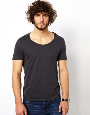 6ad289eb3f10 T-Shirt With Bound Scoop Neck   ShitR   Mens clothing styles, Asos t ...