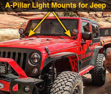 A Pillar Light Mount Kits For Jeep Pillar Lights Jeep Pillars
