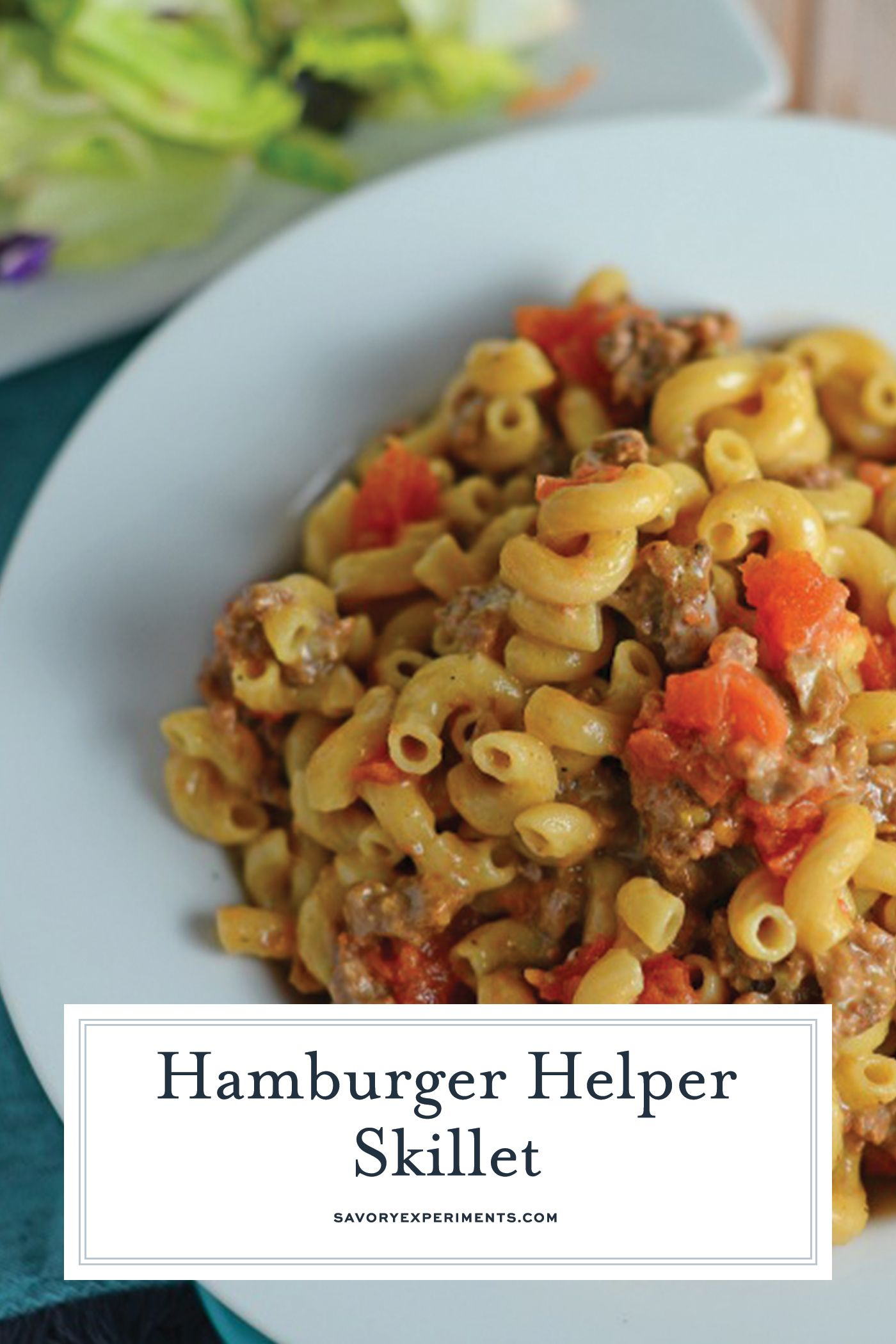 Homemade Hamburger Helper Skillet Is A Great Ground Beef Recipe With Cheddar Cheese Seasonings And T Hamburger Helper Tomato Dishes Homemade Hamburger Helper