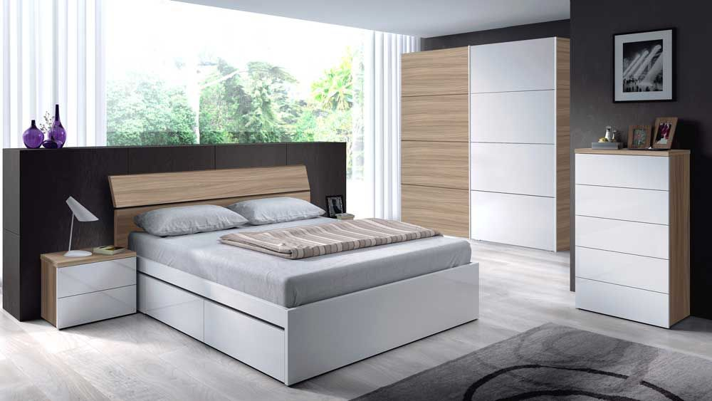 Conjunto dormitorio modelo Lara   Conjuntos, Dormitorio y Mesita de ...