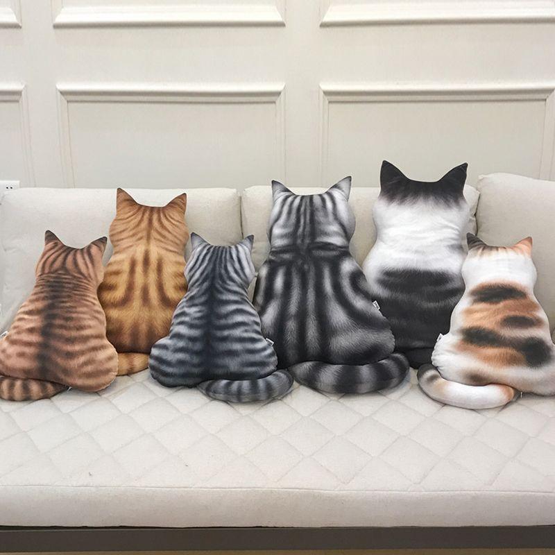 cat back animal pillow 3d cartoon