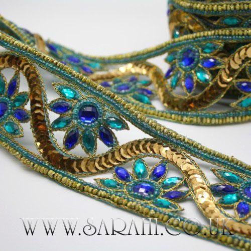 GREEN RHINESTONE beads TRIM trimming,edging,EMBELLISHMENT,CRAFT,costume,art,sew