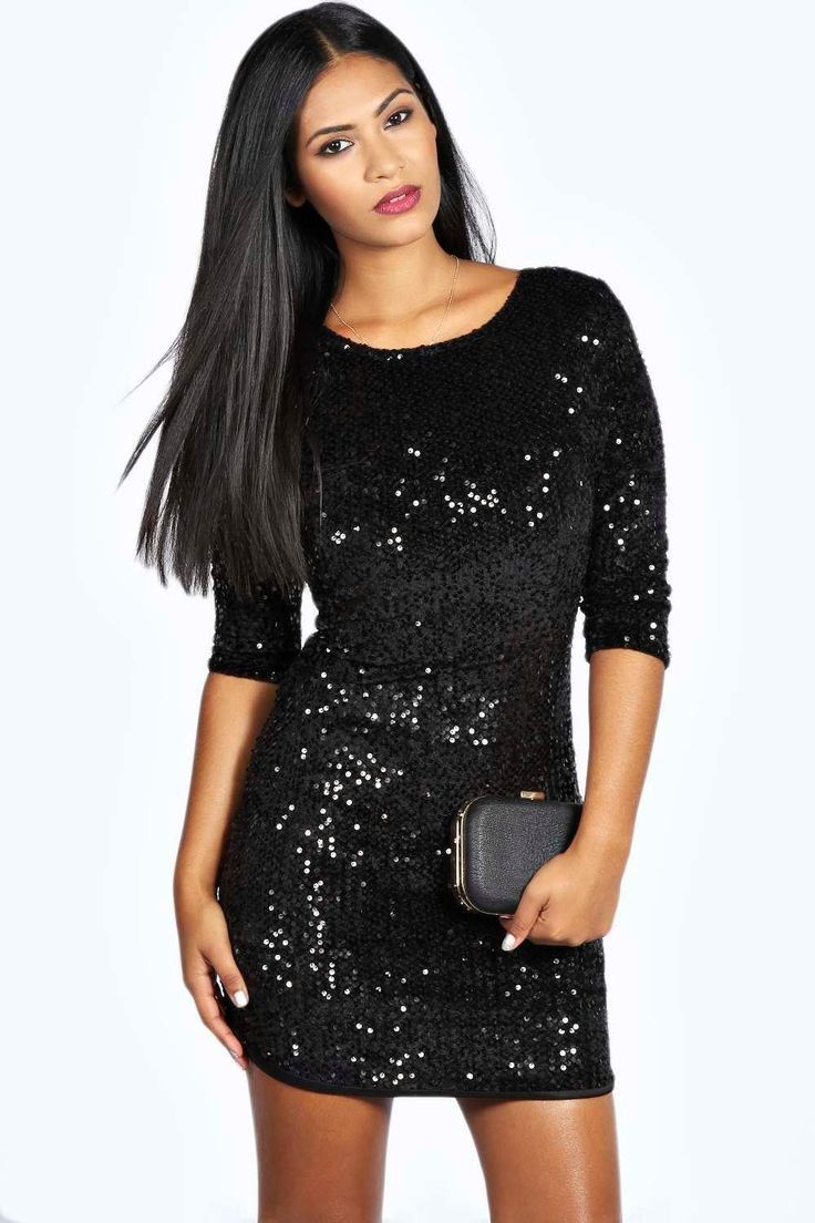 Awesome party dress louise sequin long sleeve bodycon dress check