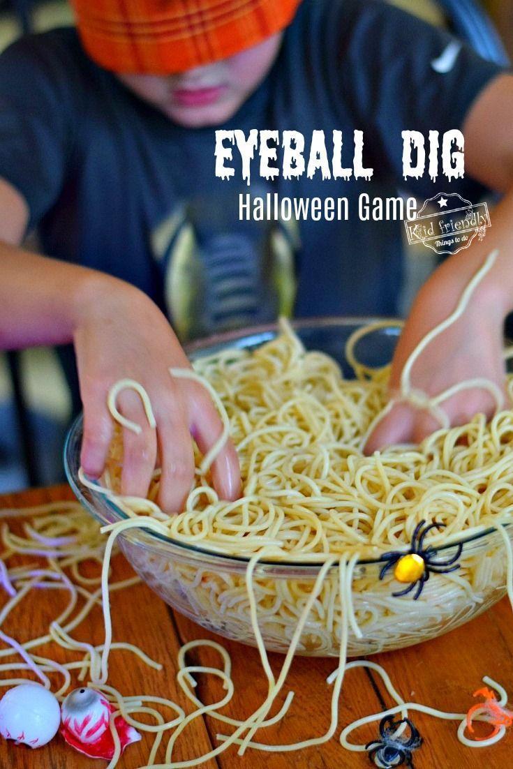 Fun Eyeball Dig Halloween Game for Kids and Teens to Play