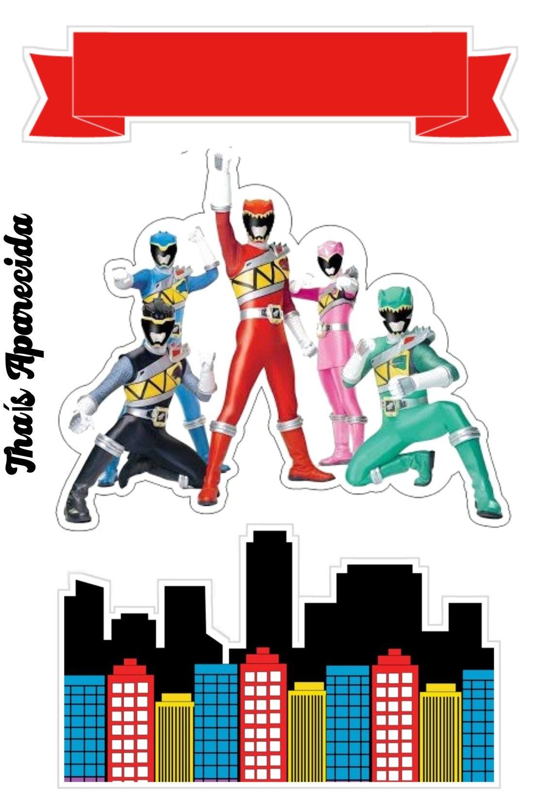 Topper Pawer Ranger Aniversario De Power Ranger Festa De Arte Infantil Pawer Rangers