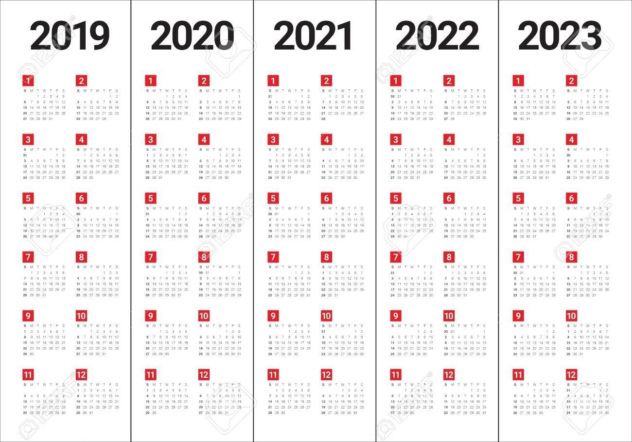 2023 2022 Calendar.Calendar For 2020 To 2023 Calendar Printables Marketing Calendar Template Calendar Template