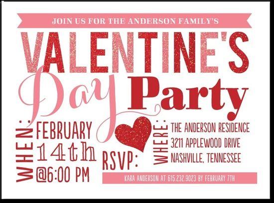 A Festive ValentineS Day Invite  ValentineS Day Ideas