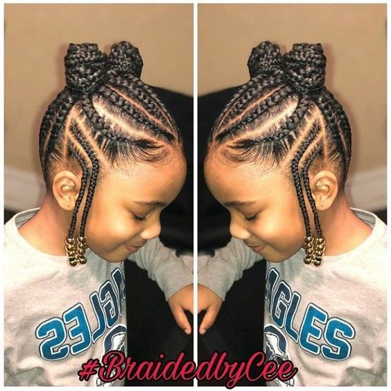 12 Easy Winter Protective Natural Hairstyles For Kids | Natural hairstyles for kids, Little girl ...