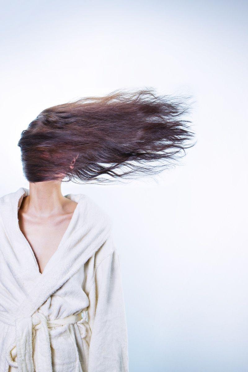 Free stock photo of woman, morning, bathrobe, bathroom