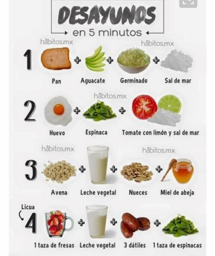 Para rapido desayunos perder peso