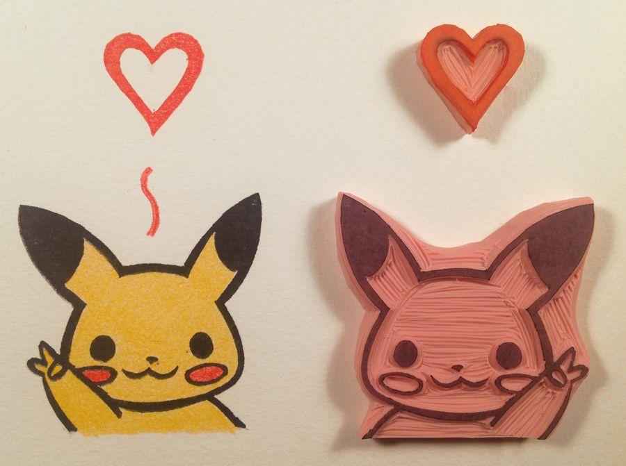 Pikachu-Loves-You-Hand-Made-Stamp by WillPetrey.deviantart.com on @deviantART