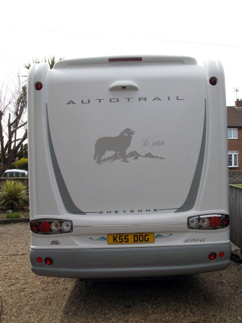 Pyrenean Mountain Dog Decal On Trailer Decals For Car - Custom vinyl decals for trailers