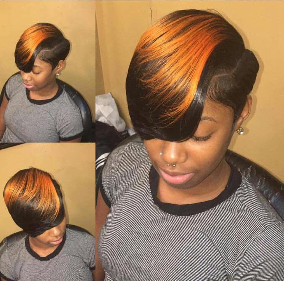 Loving This Color Short Weave Hairstyles Sassy Hair Short Hair Styles