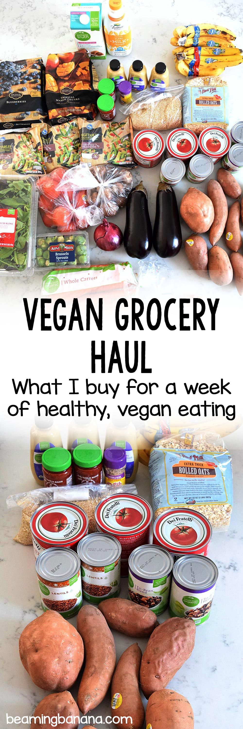 Walking you through my weekly vegan grocery haul!