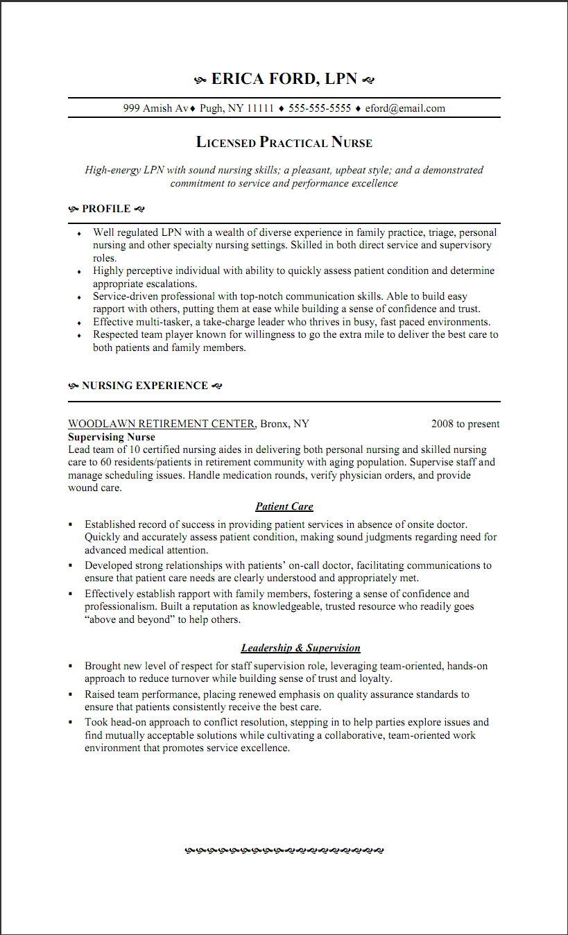 Resume For Triage Nurse - http://www.resumecareer.info/resume-for ...