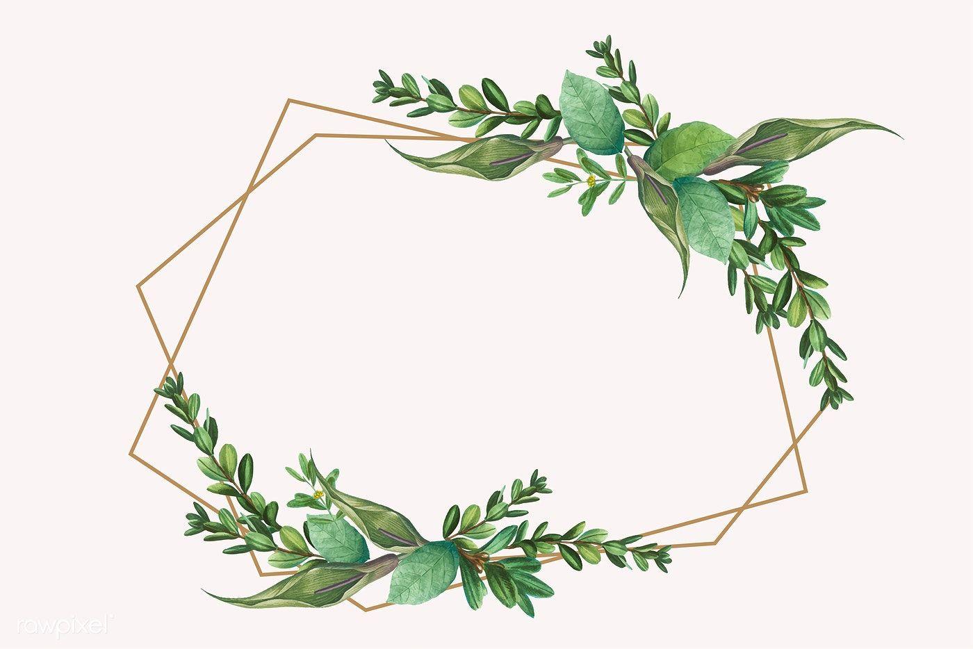 Download Premium Vector Of Tropical Botanical Frame Design Vector 584883 Pernikahan Bunga Kartu Pernikahan Seni Dinding Buatan Sendiri