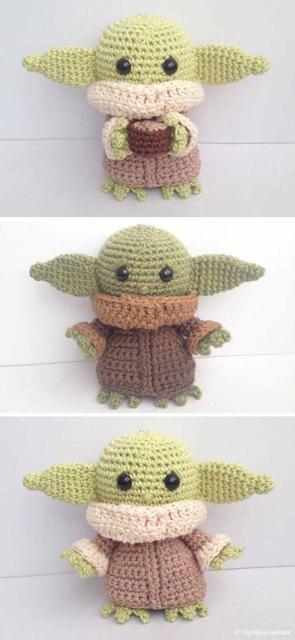 Baby Yoda Amigurumi Kostenlose Häkelanleitung #Crochet For Kids-Ideen Baby Alien Amig …, #Alien …