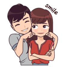 Latest Funny Couple  Cute, funny, lovely couple sticker for those who in love 11
