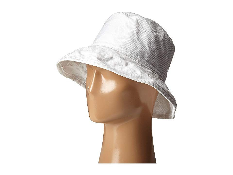 Hat Attack Washed Cotton Crusher White Caps Soak up the sun in this fashionable Hat Attack bucket hat Crusher bucket hat in washed cotton Downturned brim Unlined 100 cott...