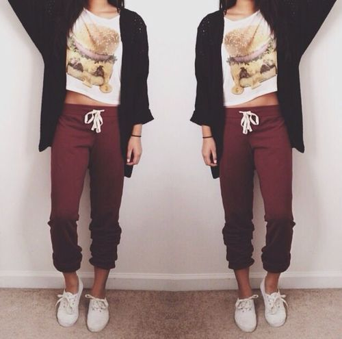 Comfy Outfits Tumblr Lazy Days Fashion Sweatpants Outfit How