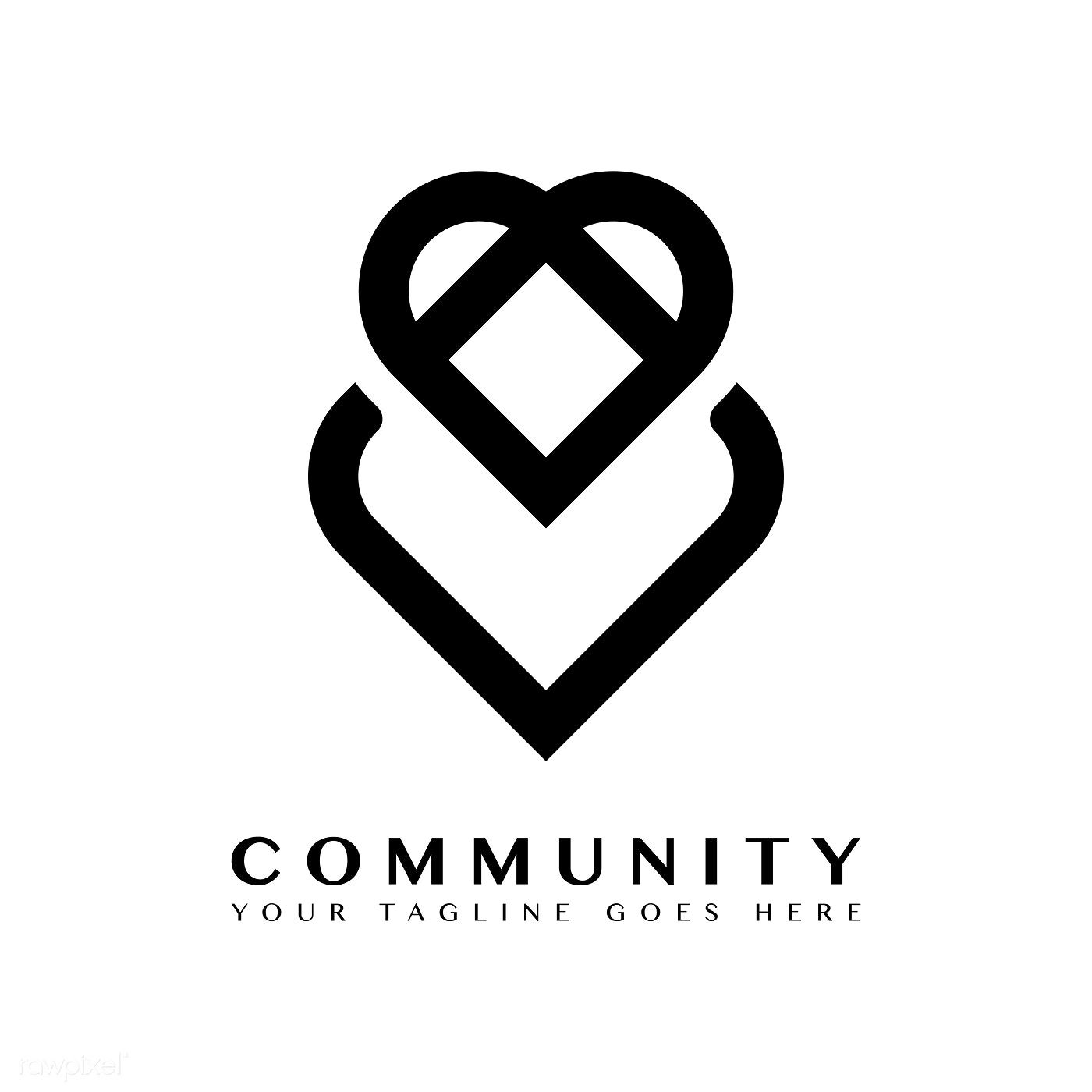 Community Branding Logo Design Sample Free Image By Rawpixel Com Logo Design Samples Logo Design Branding Design Logo