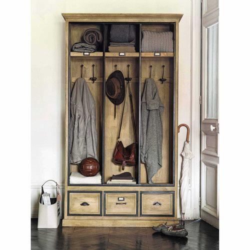 meuble d 39 entr e avec 6 pat res en manguier massif l120 maisons du monde collection pinterest. Black Bedroom Furniture Sets. Home Design Ideas